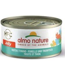 Almo Nature HFC - Pstruh a tuňák Jelly 70g výhodné balení 24ks