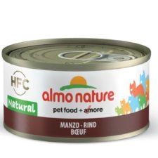 Almo Nature HFC WET CAT- Hovězí 70g výhodné balení 24ks