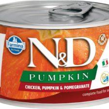 N&D PUMPKIN Dog konz. Adult Chicken & Pomegranate Mini 140 g
