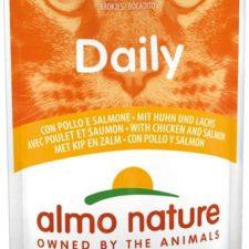 Almo Nature Daily Menu cat kaps. kuře a losos 70g