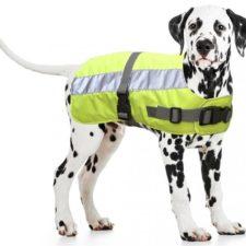 Reflexní vesta pro psa 55cm žlutá Duvo+