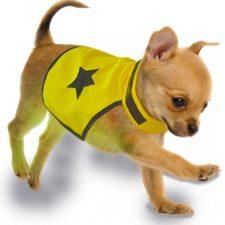 Reflexní vesta pro psa 40cm látková žlutá Duvo+