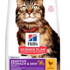 Hill's Fel. Dry SP Adult Sen.Stomach&Skin Chicken1