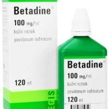 Betadine liq 1x120ml 10% dezinfekční roztok