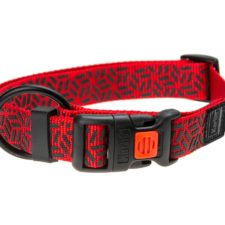 Karlie Obojek ASP Mix&Match červený motiv Grafit velikost L/XL 45-65cm 25mm