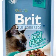 Brit Premium Cat D Fillets in Gravy With Beef 85g