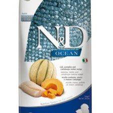 N&D OCEAN DOG Puppy M/L Codfish & Pumpkin & Melon 12kg