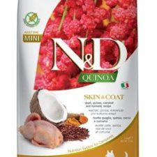 N&D Quinoa DOG Skin & Coat Quail & Coconut Mini 2