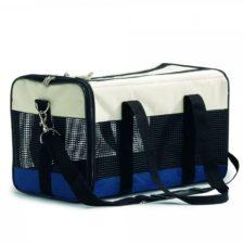 Beeztees Cestovní taška krémová modrá 43x25x27cm