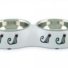 Beeztees Miska pro kočky MUZY bílá 27cm