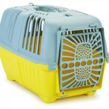 Beeztees Přepravka pro kočky PRATIKO žlutá/světle šedá 48X31X33cm