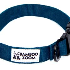 Bamboo Zoom Obojek pro psy modrý S