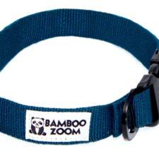 Bamboo Zoom Obojek pro psy modrý L