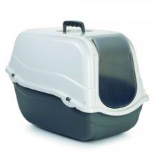 Beeztees Toaleta pro kočky ROMEO šedá/bílá 57x39x41cm
