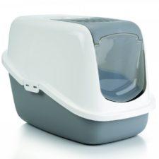 Beeztees Toaleta pro kočky NESTOR šedá/bílá 56X39X39cm