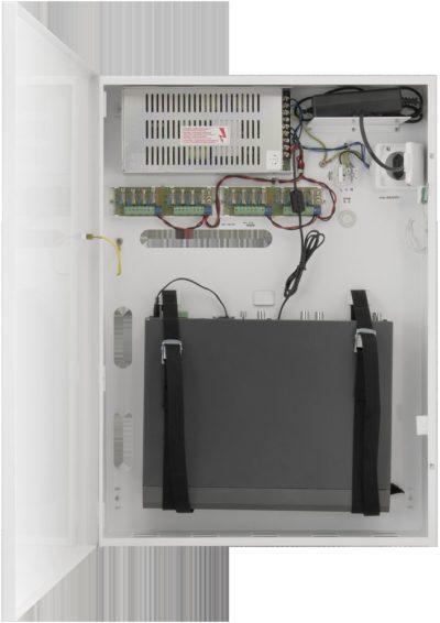 Skříňka pro DVR / NVR rekordéry s bezpečnostním napájecím zdrojem pro šestnáct kamer