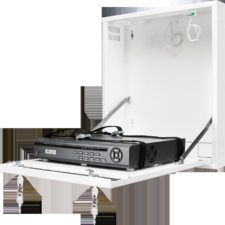 Uzamykatelná skříňka na zeď pro malé DVR / NVR rekordéry (bílá)