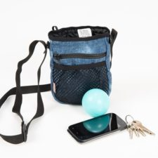 Pamlskovník softshell 2v1 riflový modrý 13 x 19 x 6 cm