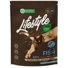 Nature's Protection Cat Dry LifeStyle GF Sterilised W.Fish 400 g