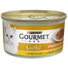 Gourmet Gold cat konz.-Sauce Delight Minifiletky kuře 85 g