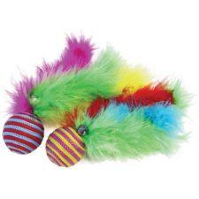 Hračka cat peří Carnival Ball 2ks HP