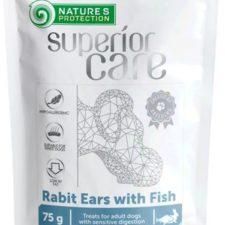 Nature's Protection Dog snack SC králičí uši s rybou 75 g
