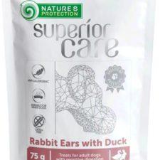 Nature's Protection Dog snack SC králičí uši s kachnou 75 g