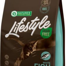 Nature's Protection Cat Dry LifeStyle GF Adult White Fish 1,5 kg