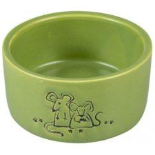 Miska hlod. keramická zelená myš Duvo+100 mlØ7,5cm