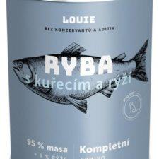 Louie konz. pro psy ryba s kuřecím a rýží 400 g