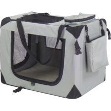 Transp.nylon box Dogcrate 121x79x80 šedý A.K.