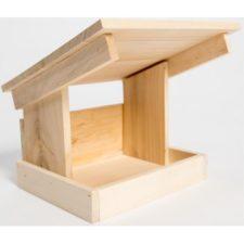 Krmítko venkovní dřevo šikmá střecha Cidlina 22x17x22cm