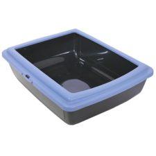 WC s okrajem černá/modrá 48x38x14 RW
