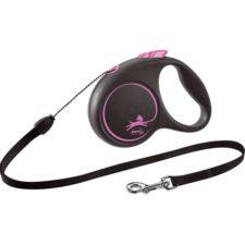 Flexi Black Design S lanko 5 m růžové 12 kg