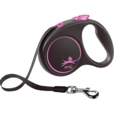 Flexi Black Design S pásek 5 m růžové 15 kg