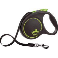 Flexi Black Design L pásek 5 m zelené 50 kg