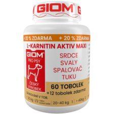 Giom ERA L-karnitin Aktiv MAXI 60 tbl+20%zdarma