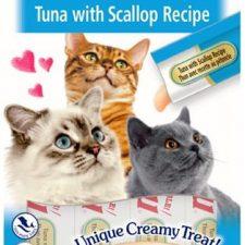 Inaba Churu cat snack Tuňák s příchutí hřebenatek 4x 14g
