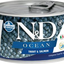N&D OCEAN Dog konz. Adult Trout & Salmon Mini 140 g