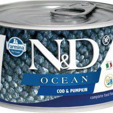 N&D OCEAN Dog konz. Puppy Codfish & Pumpkin Mini 140 g