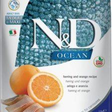 N&D OCEAN Dog Grain Free Adult M/L Herring & Orange 2,5 kg