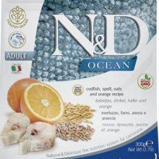 N&D OCEAN Cat Low Grain Adult Codfish & Orange 0,3 kg
