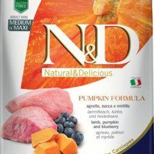 N&D Grain Free Dog Adult M/L Pumpkin Lamb & Blueb. 2,5 kg