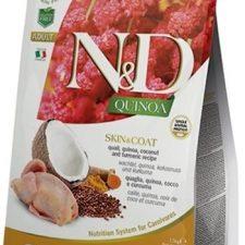 N&D Grain Free Cat Adult Quinoa Skin&Coat Quail & Coconut 1,5 kg