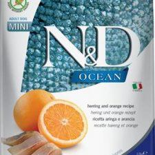 N&D OCEAN Dog Grain Free Adult Mini Herring & Orange 2,5 kg