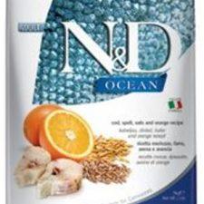 N&D OCEAN Cat Low Grain Adult Codfish & Orange 10 kg