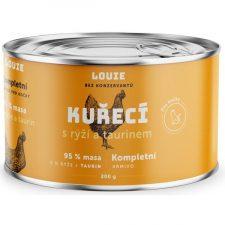 Louie konz. pro kočky kuřecí s rýží a taurin 200g
