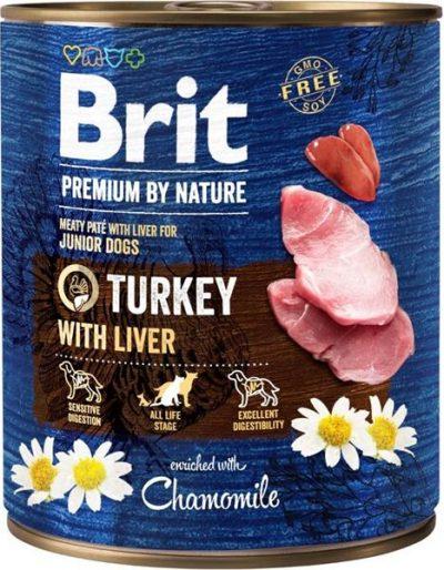 Brit Premium by Nature Dog konz. - Turkey with Liver 800 g