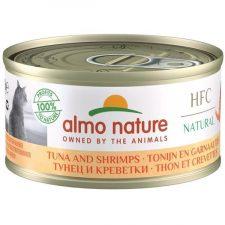 Almo Nature cat konz. Natural-tuňák a krevety 150 g