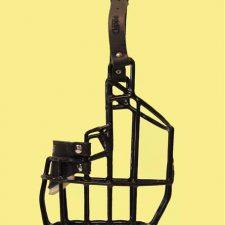 Náhubek kovový Bulteriér - pes, gumoplast 105 x 145 x 100 mm